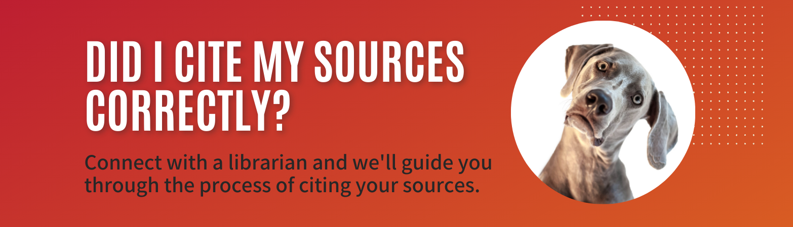 Get help citing your sources
