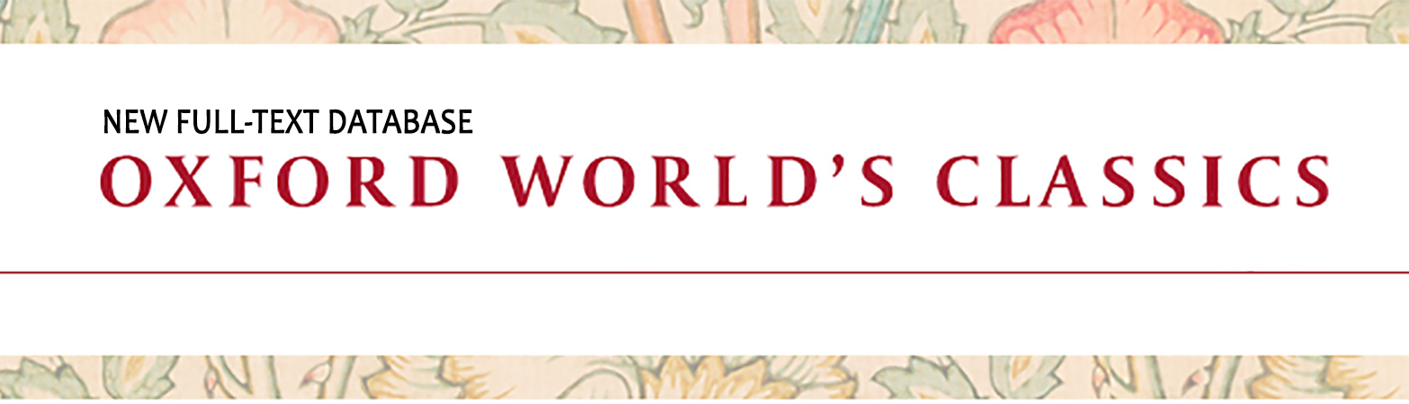 New Database: Oxford World Classics