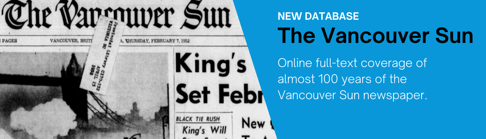 New Database: The Vancouver Sun