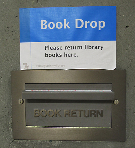 New Westminster book drop location